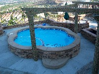 Crystal Beach Fiberglass Pool and Spa in Mesquite, TX